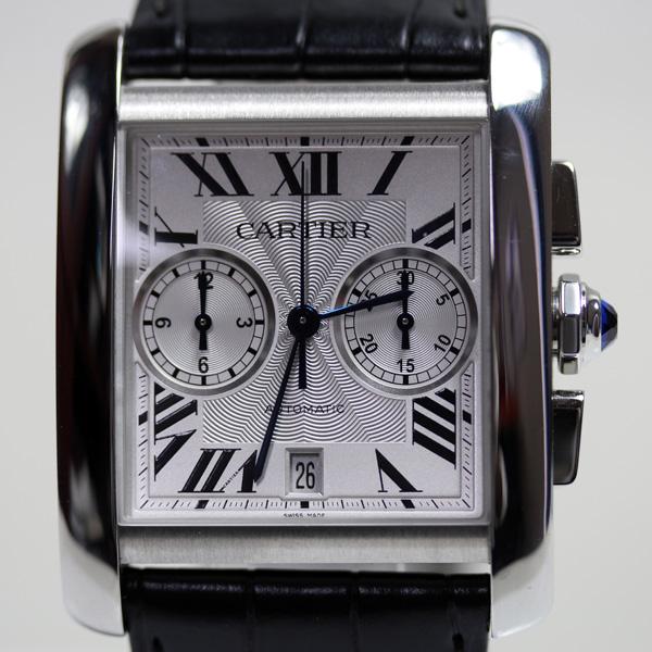 【MT2245】★カルティエ CARTIER タンクMC クロノグラフ メンズ 腕時計自動巻き シースルーバック W5330007★【中古】【美品】【質屋出品】【あす楽】
