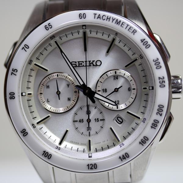 【MT2265】★セイコー SEIKO ブライツ 電波ソーラー メンズ 腕時計 ホワイトベゼル SAGA169/8B82-0AP0★【中古】【美品】【質屋出品】【あす楽】
