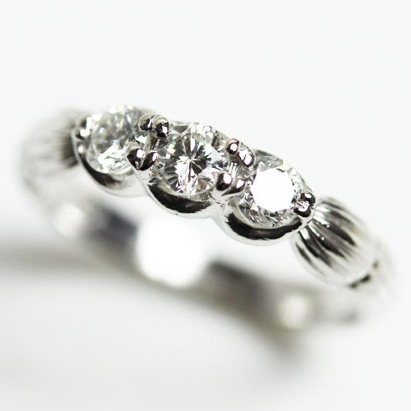 【MR2203】★PT プラチナ ダイヤモンドリングファッションリング レディース指輪D0.5 3.6g サイズ12号 【中古】【質屋出品】【あす楽】