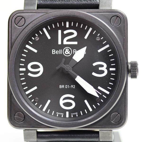 【MT1626】【中古】【美品】★ベル&ロス Bell&Ross アヴィエーションBR01-92 メンズ 自動巻き 腕時計【質屋出店】【あす楽】