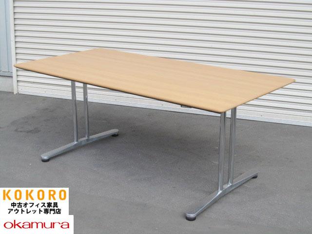 【中古】オカムラ_インターレイス_会議テーブル_W1800【中古オフィス家具】