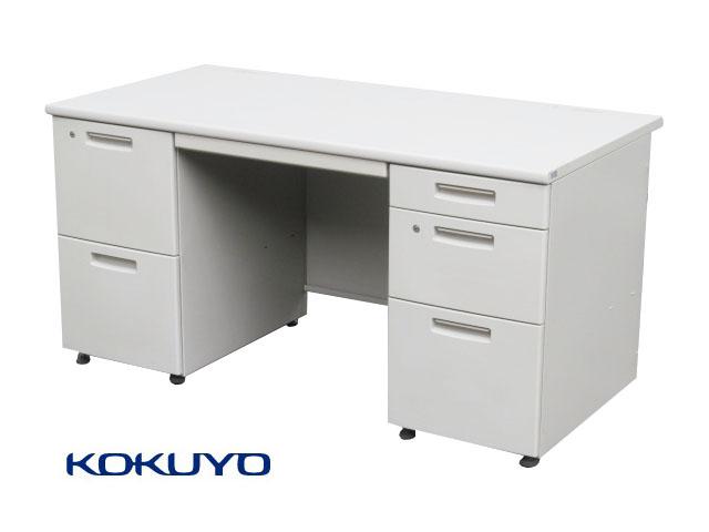 【SALE】【中古品】コクヨ BSシリーズ 両袖デスク W1400 鍵付 B 【中古オフィス家具】