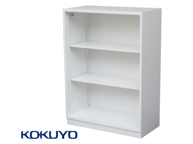 【中古品】コクヨ エディア 3段オープン書庫 W900 ホワイト 2018年製【中古オフィス家具】