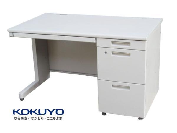 【中古】コクヨ BS+シリーズ 片袖デスク W1000 鍵付 深【中古オフィス家具】