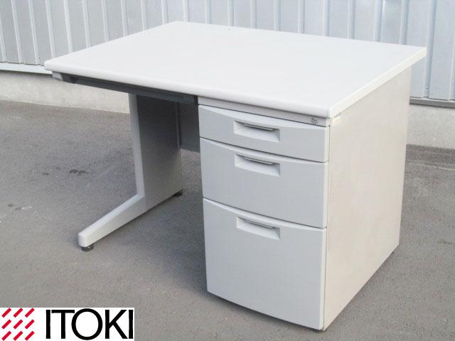 【中古】イトーキ CZシリーズ 片袖デスク W1000 鍵付【中古オフィス家具】