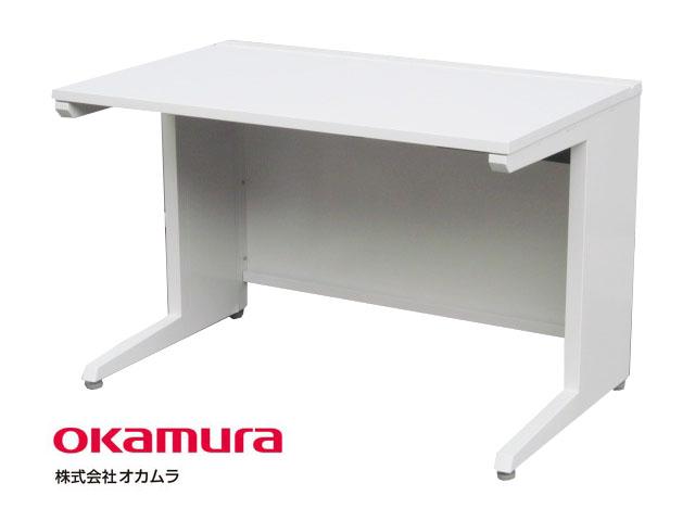 【中古】 オカムラ アドバンス 平机 W1100 ホワイト 引き出し無し【中古オフィス家具】