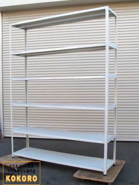 【中古】日本ファイリング 物品棚 軽量棚 開放型 W1800 H2400 天地6段【中古オフィス家具】