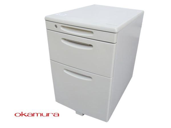 【中古品】okamura_オカムラ_SD-V_3段ワゴン_鍵付き【中古オフィス家具】