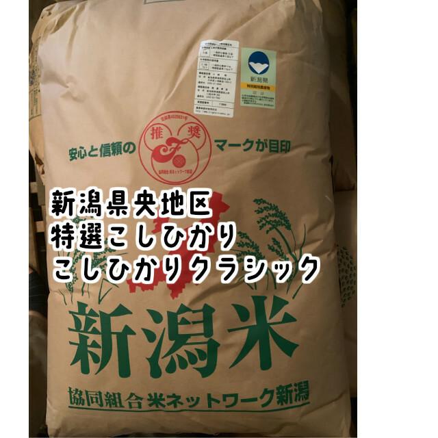 有機肥料と最低限の農薬を散布して栽培したお米です 新潟で5%しか流通していない昔ながらの従来こしひかりです 令和3年産新米予約 新潟県央地区 クラシック 特選こしひかり 超安い 玄米30kg 超特価