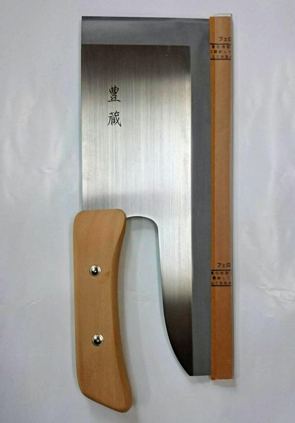 中村豊蔵 蕎麦きり包丁 木柄 30cm [そば打ち道具][大西製粉出荷]