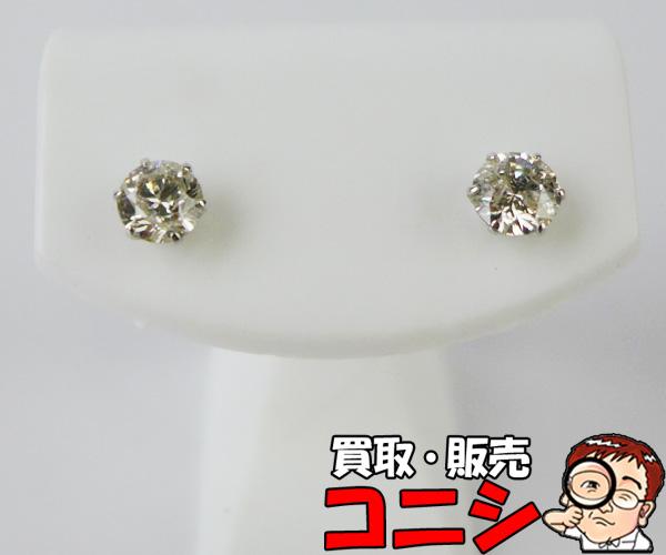 【神戸の質屋】PT900 ダイヤ ピアス D:0.90 新品仕上げ【送料無料】f1389b