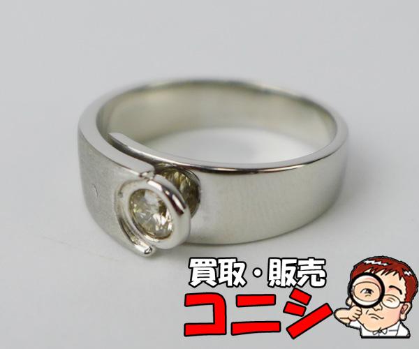 【神戸の質屋】PT900 ダイヤリング D:0.24 #13【送料無料】f1425b