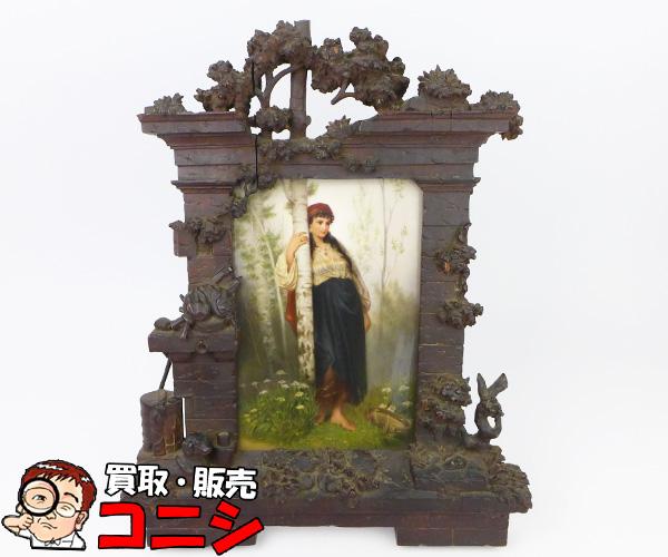 【第1位獲得!】 【神戸の質屋】【ベルリンKPM窯】「ジプシーの少女」陶板画 19世紀 アンティーク パンフレット付 19世紀【送料無料 アンティーク】f1304b, ヨシマツチョウ:e392dace --- easassoinfo.bsagroup.fr