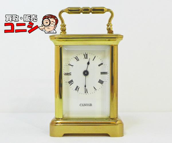 【神戸の質屋】【レペ/L'epee】置き時 白文字盤×ゴールド 箱付【送料無料】f1301b