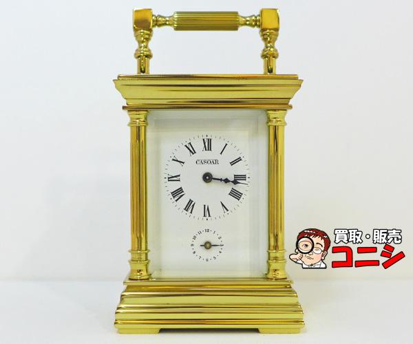 【神戸の質屋】【レペ/L'epee】置き時 白文字盤×ゴールド 箱付【送料無料】f1302b