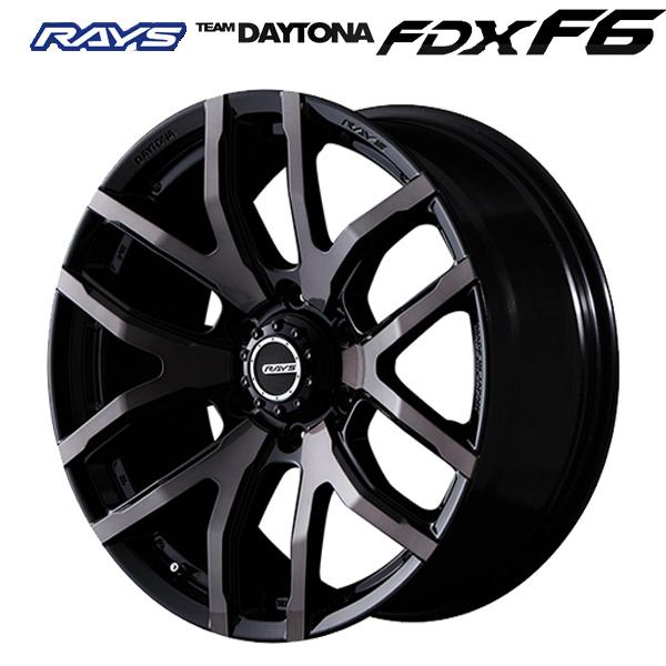 即日発送 17インチ レイズ チームデイトナFDX F6 KZ 8.0J-17+20 6/139.7 ホイール新品1本