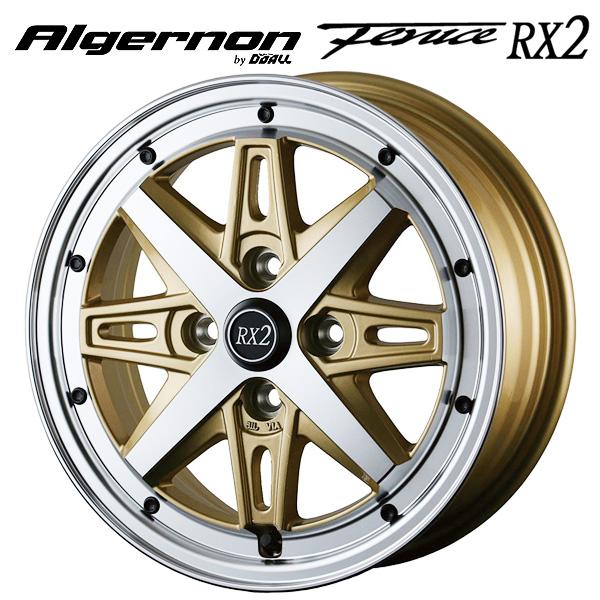 14インチ ドゥオール フェニーチェ RX2 ゴールドポリッシュ 4.5J-14 4/100 新品ホイール1本