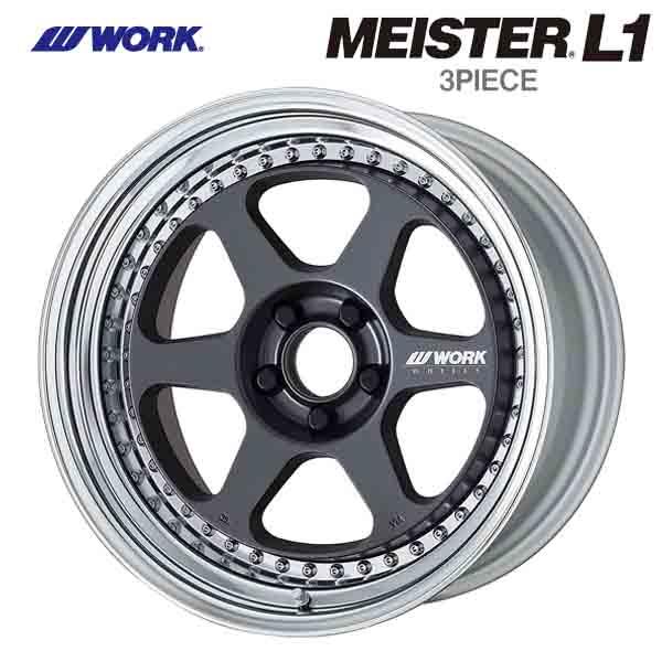 18インチ WORK MEISTER L1 3P MGM 7.0J-18 新品ホイール1本