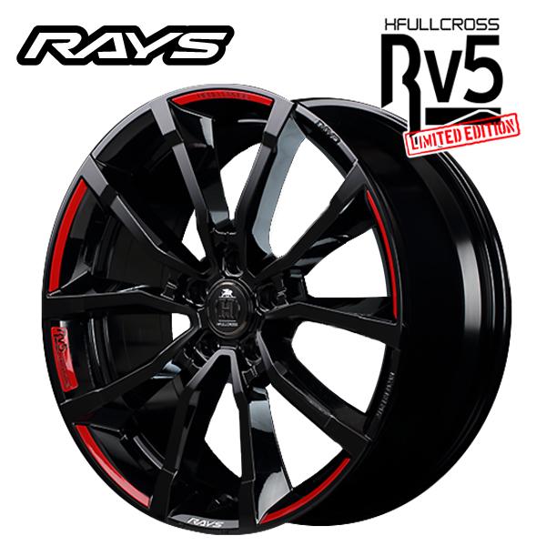 2019年限定モデル19インチ RAYS HFULLCROSS Rv5 LIMITED EDITION BNJ 8.0J-19+50 5/114.3 新品ホイール1本 国産車