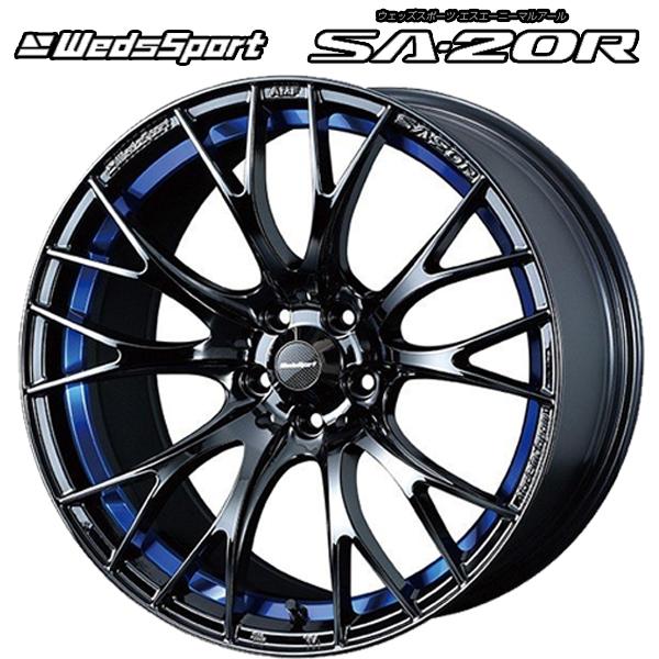 17インチ WedsSport SA-20R BLC2 7.0J-17+43 4/100 新品ホイール1本 国産車