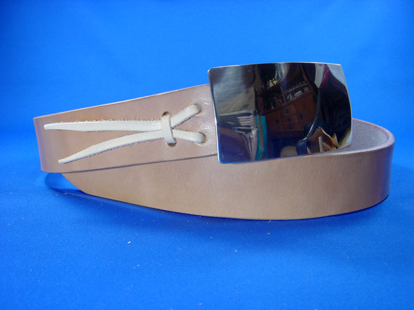 シルバー950固定式バックルとベルトセット メンズ 送料無料