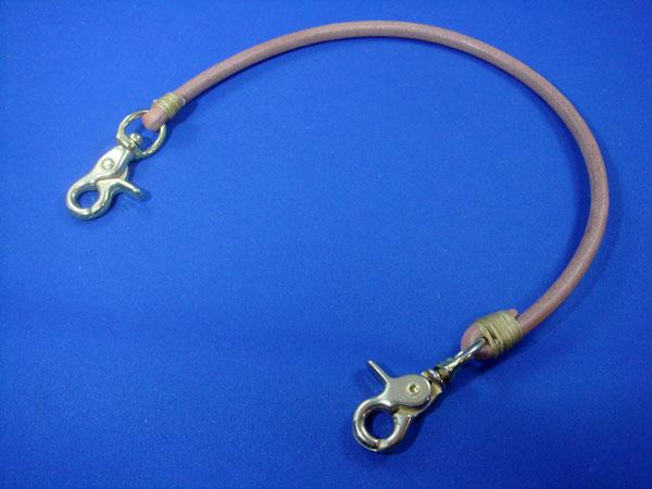 丸型ウォレットロープ 真鍮金具付