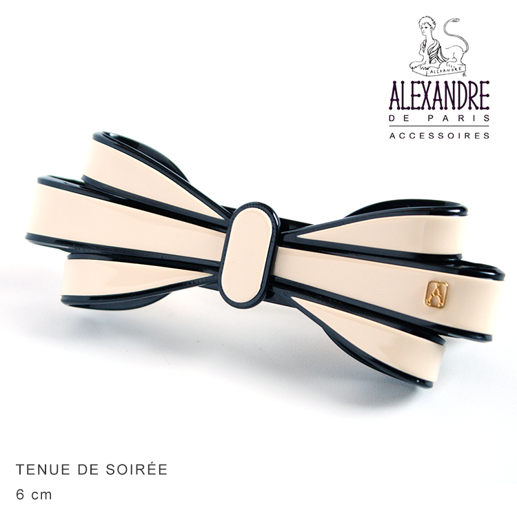 Alexandredeparis アレクサンドルドゥパリ Basic Classique Barrette Noeud Ruban デザインバレッタ 6cm AA6-16495-02 【AA6-16524-03】