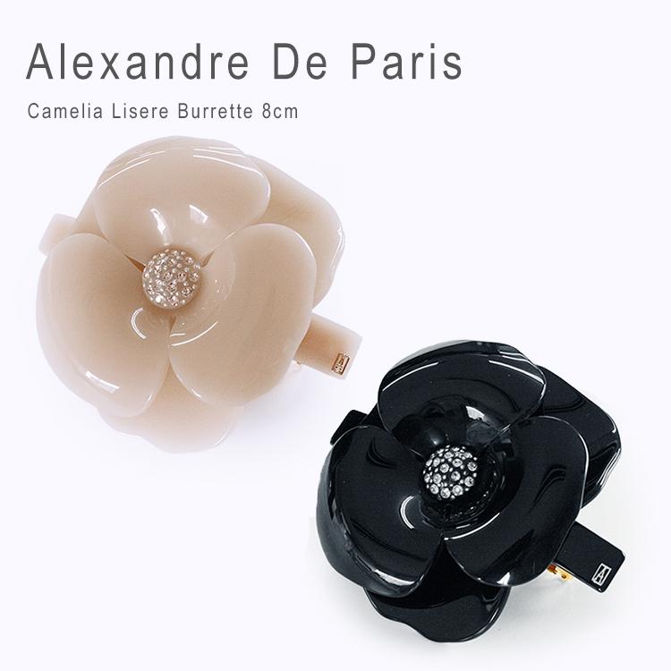 Alexandredeparis アレクサンドルドゥパリ【AA8-11886-03】Basic Les Camelia Lisere Burrette カメリア バレッタ 8cm