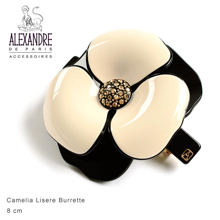 Alexandredeparis アレクサンドルドゥパリ【AA8-14178-03】Basic Camelia Lisere Burrette カメリアバレッタ 8cm