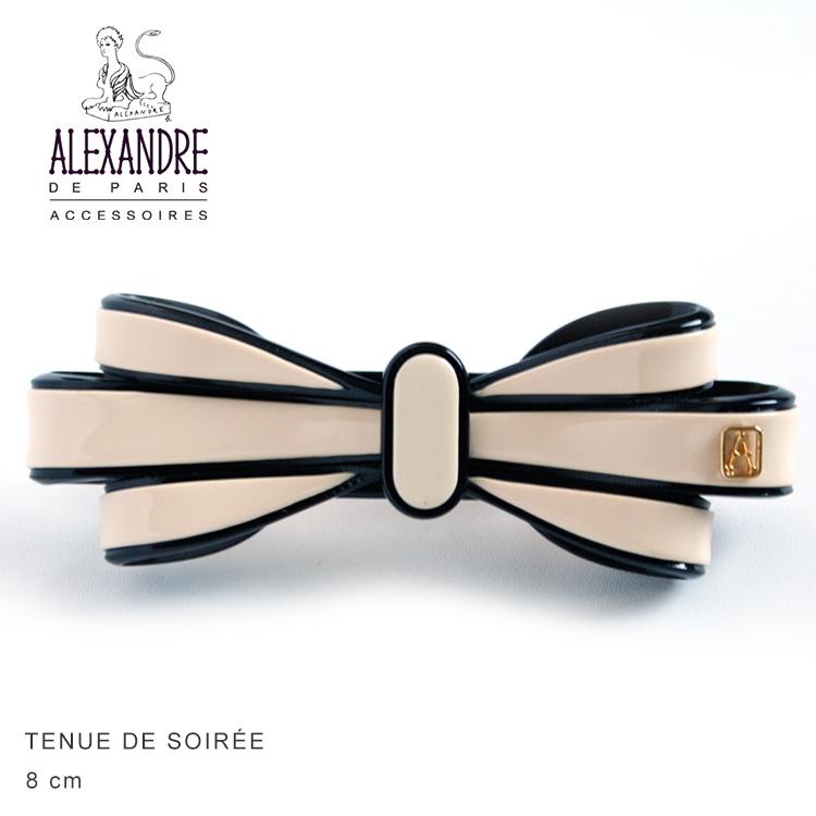 Alexandredeparis アレクサンドルドゥパリ【AA8-16496-02】Basic Classique Barrette Noeud Ruban デザインバレッタ 8cm AA8-16524-02