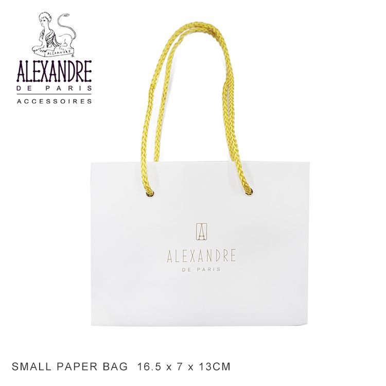 Alexandre 贈物 de paris SMALL PAPER BAG アレクサンドルドゥパリ Sサイズ ショッピングバッグ 紙袋 商い Alexandredeparis