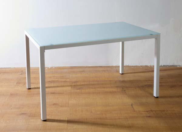 ガラスダイニングテーブル PA-12075 ホワイト 送料無料 【北海道・沖縄・離島 発送不可】