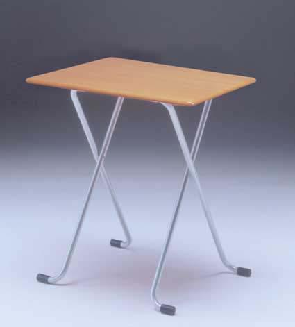 フォールディングテーブル [ルネセイコウ] W-62TA テーブル角 ナチュラル/シルバー 送料無料