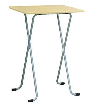 フォールディングテーブル [ルネセイコウ] W-82TA ハイテーブル角 ナチュラル/シルバー 送料無料