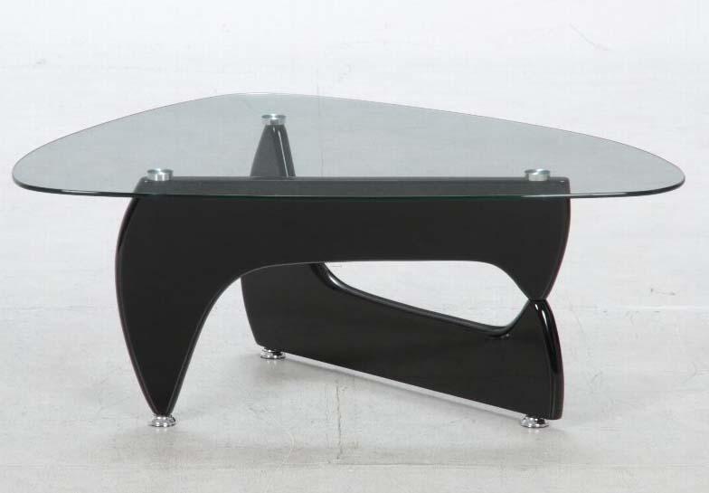 イサムノグチ風  ガラスセンターテーブル ルーク ブラック 96140 送料無料 【北海道・沖縄・離島 発送不可】