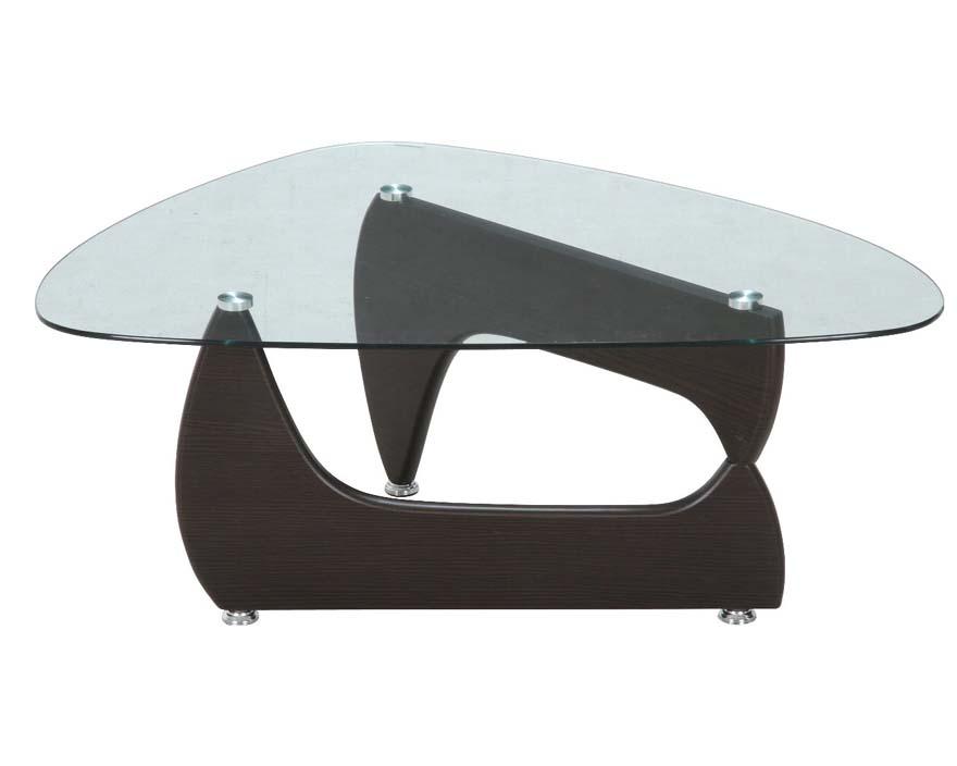 イサムノグチ風  ガラスセンターテーブル ルーク ウォルナット 96142 送料無料 【北海道・沖縄・離島 発送不可】
