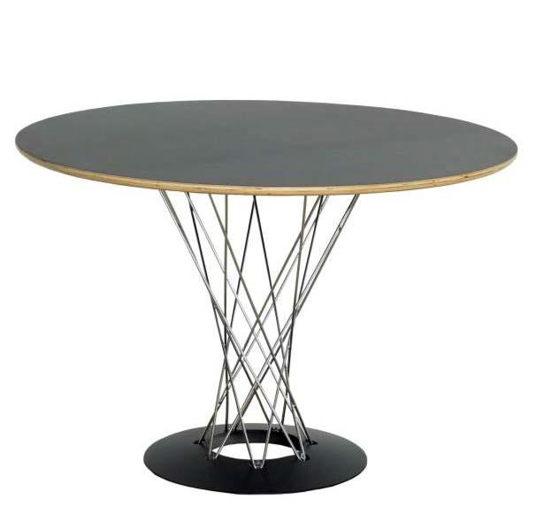 イサム・ノグチ サイクロンテーブル 105cm WCT-105 ブラック 送料無料