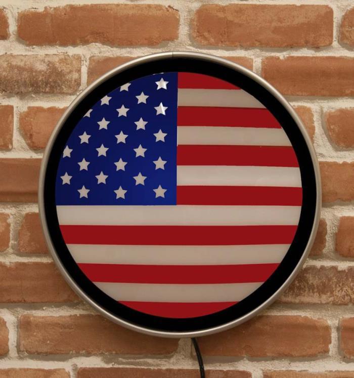 ラウンドウォールランプ US Flag MLG-1081 送料無料