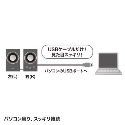 USBスピーカー(ブラック) ≪サンワサプライ≫ MM-SPU7BK