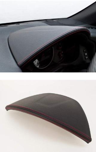 シルクロード メーターフードカバー レザー合皮ブラック スバル BRZ ZC6 SUBARU