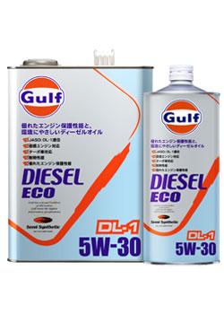 Gulf DIESEL ECO DL-1 エンジンオイル【5W-30 4L×6缶】 ガルフ ディーゼル エコ ディーゼルエンジン JASO DL1