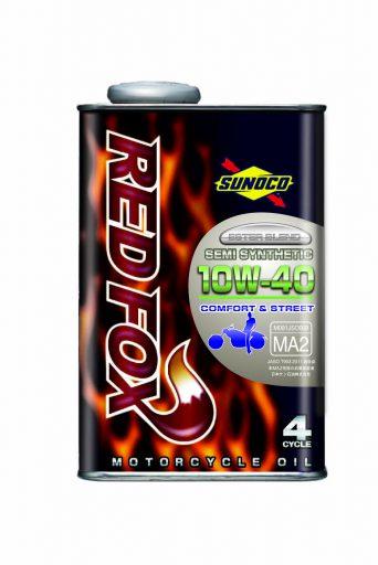 SUNOCO REDFOX COMFORT & STREET 4サイクル オイル 【10W-40 20L×1缶】 スノコ 2輪 バイク レッドフォックス コムフォート アンド ストリート 部分合成油 レーシングスペック エンジンオイル 10W40