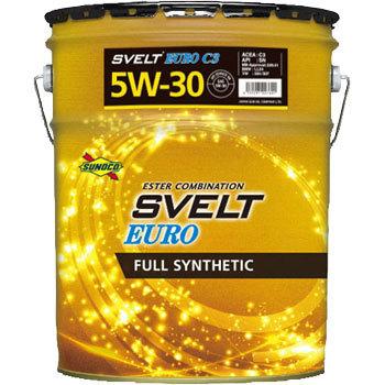 SUNOCO エンジンオイル Svelt EURO 5W-30 20Lx1 全合成 エステル配合 SN/C3/229.51/LL04/504/507 スノコ スヴェルト