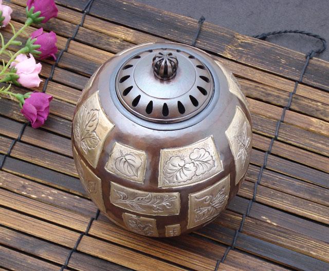 逸品商品 現代香炉【三十葉(さんじゅうよう)】銅製