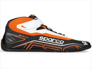 ☆【NEWモデル!!】Sparco K-Runカートブーツ-子供のサイズ Black / Fluro Orange