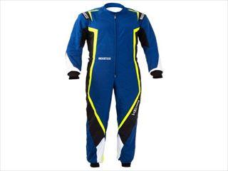 ☆【NEWモデル!!】Sparco Kerbカートスーツ-子供サイズ Blue / Black / Fluro Yellow