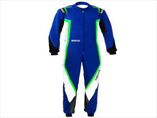 ☆【NEWモデル!!】Sparco Kerbカートスーツ Blue / White / Fluro Green