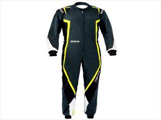 ☆【NEWモデル!!】Sparco Kerbカートスーツ Grey / Black / Fluro Yellow