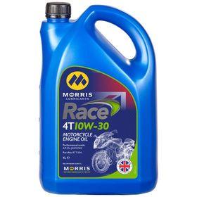 ☆【Morris Lubricants】Race 4Tエンジンオイル   Oil Viscosity 10W30Size4 Litre