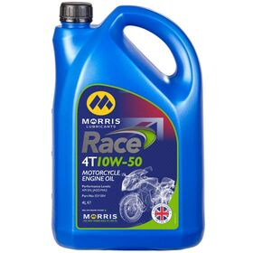 ☆【Morris Lubricants】Race 4Tエンジンオイル | Oil Viscosity 10W50Size4 Litre